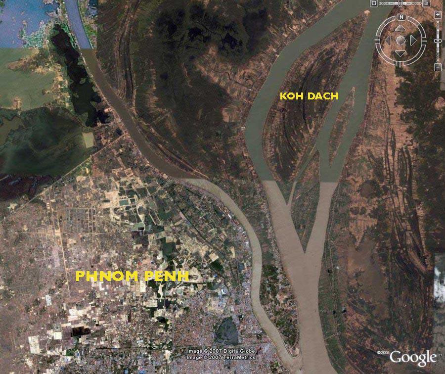 Koh dach se trouve à quelques kilomètres de Phnom Penh